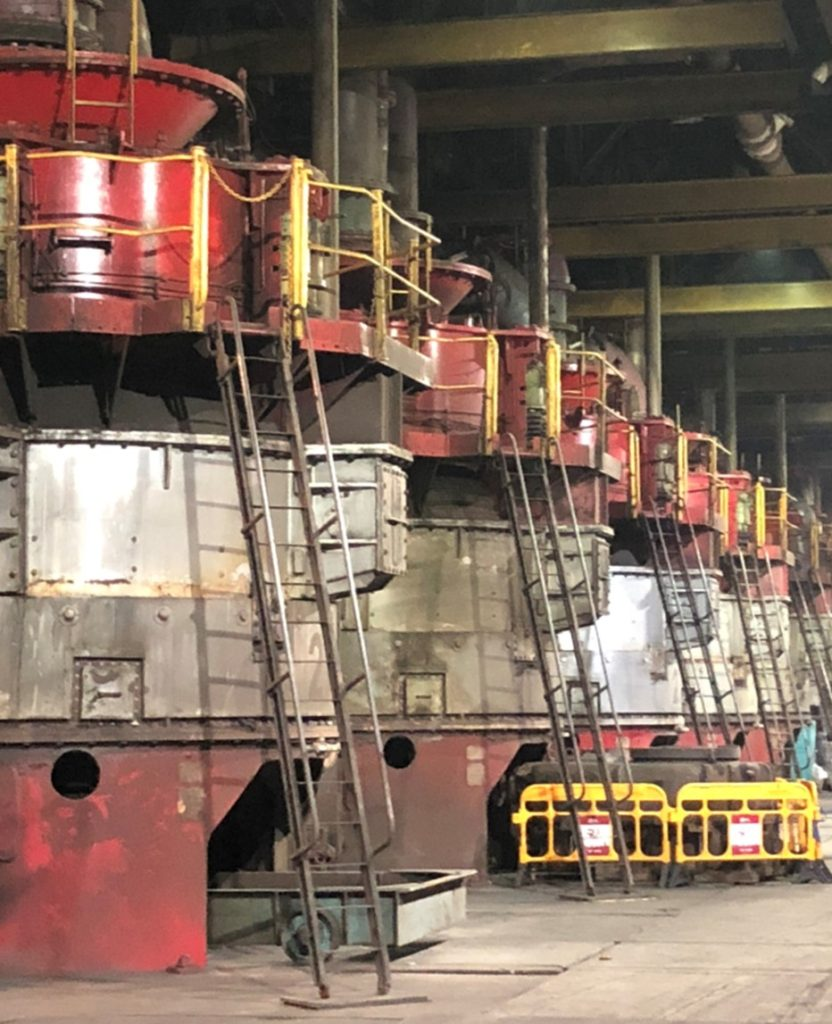 vertical mill crusher parts
